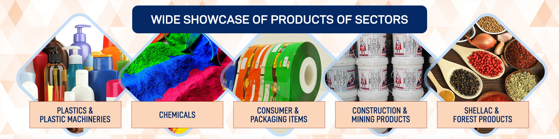 Plastics, Chemicals, Construction & Mining, Shellac, Forest & Allied Products