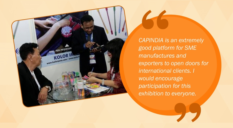 Capindia is extremely good platform for sme manufacturers and exporters